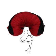 Jual Travel Pillow Bantal Leher Merah Lengkap