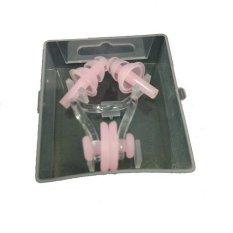Anekaimportdotcom Penutup Telinga dan Penyumbat Hidung Renang atau Earplug - Pink