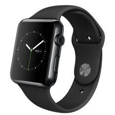 Jual Apple Watch Sport 42Mm Space Black Aluminium Case Black Band Hitam Branded Murah
