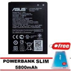 Asus Baterai Zenfone GO ZC500TG + Gratis Powerbank Slim 5800mAh