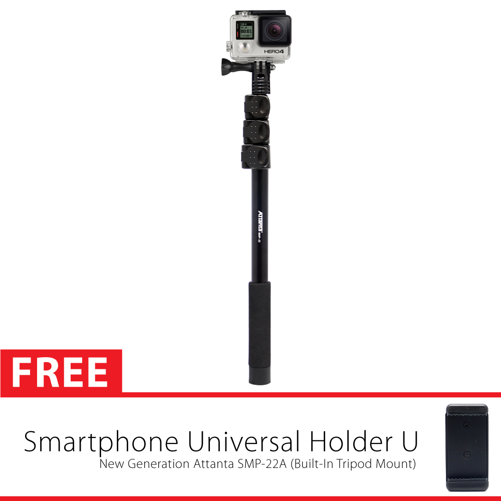 Built-In Tripod Mount Attanta SMP-22A Monopod Tongsis for GoPro, Xiaomi Yi