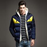 Beli Musim Gugur Mantel Musim Dingin Kerah Berdiri Pemuda Pria Korea Slim Cotton Padded Jaket Tebal Hangat Jaket Pria Seken