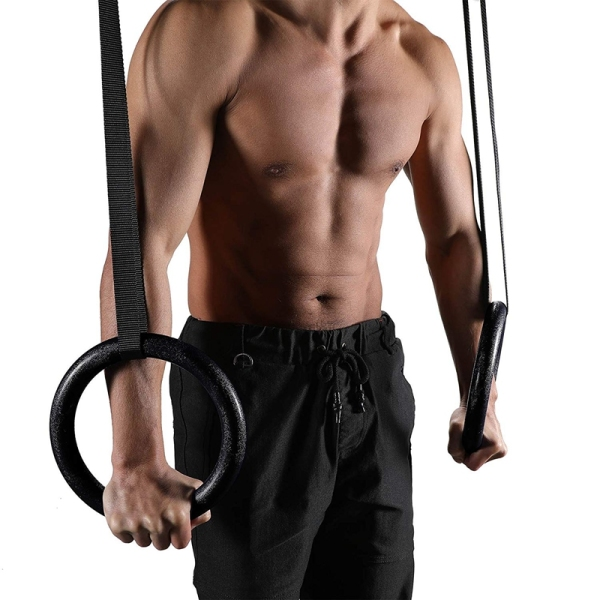 Bảng giá Gymnastic Rings Pull-Up Fitness Gym Rings with Adjustable Straps for Strength Training Workout