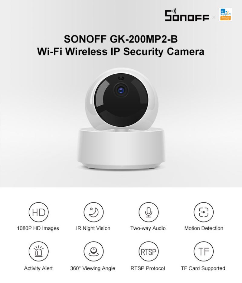 Bestdeals Sonoff GK-200MP2-B Mini Wifii Camera Thông Minh Không Dây HD 1080P Camera IP Bé Màn Hình Giám Sát Cam 360 Hồng Ngoại Ban Đêm tầm Nhìn Ứng Dụng Truy Cập Từ Xa