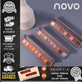 NOVO Palet Eyeshadow 9 Warna Glitter Shimmer Matte thumbnail