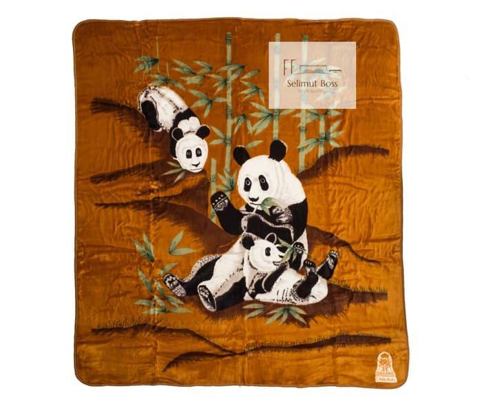 Selimut Bulu Halus Tebal Panda (Cardinal) 220 x 240 cm / SELIMUT TERBARU / SELIMUT WANITA / SELIMUT ANAK / SELIMUT PRIA / SELIMUT MOTIF - A4637