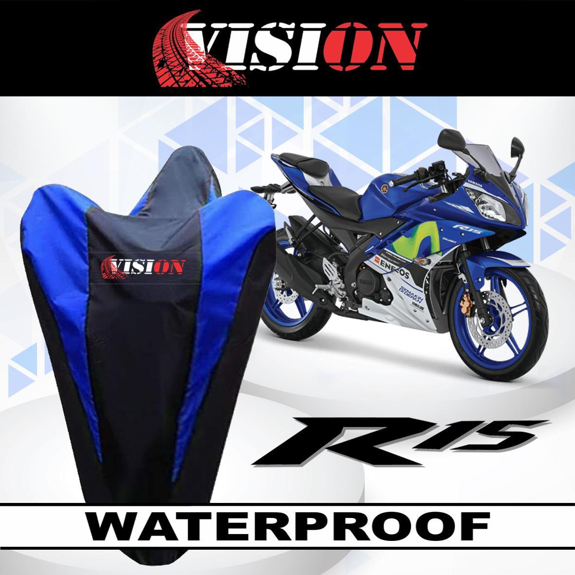 [ BAYAR DI TEMPAT ] List BIRU Sarung Bodi Motor Vision Yamaha R15 Anti Air Cover Body Waterproof Selimut Penutup Pelindung Debu