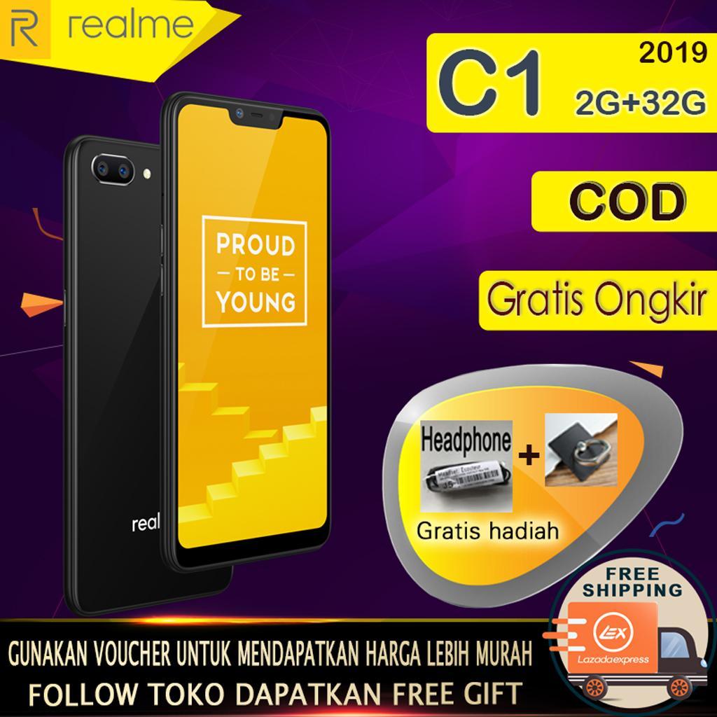 Realme C1 Hp 2g+32g - Cod, Gratis Ongkir, Baterai Besar 4230mah, Ai Facial Unlock, Garansi Resmi [ Please Use The Voucher ] By Xiang Yun Mall.