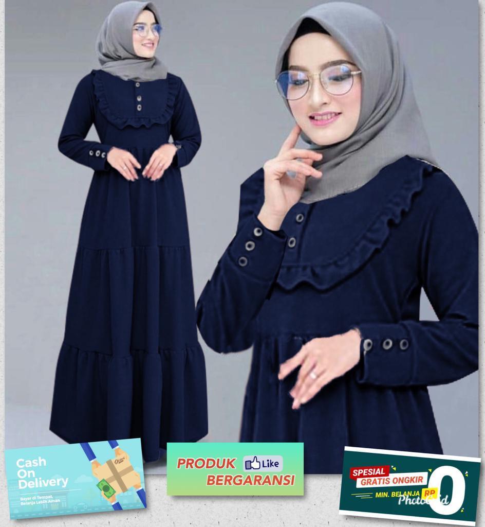 JAKARTA FASHION Gamis terbaru nanshy /gamis terbaru/stelan muslim/atasan  bawahan muslim/syari/hijab/muslim terbaru/fashion maxi