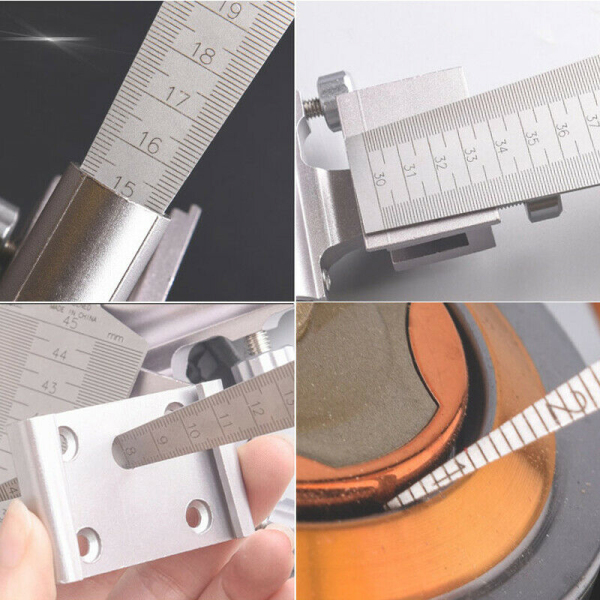 4PCS Wedge Feeler spaceHole Taper Gauge Stainless Steel Ruler Welding Inspection Metric Imperial Measure Tool