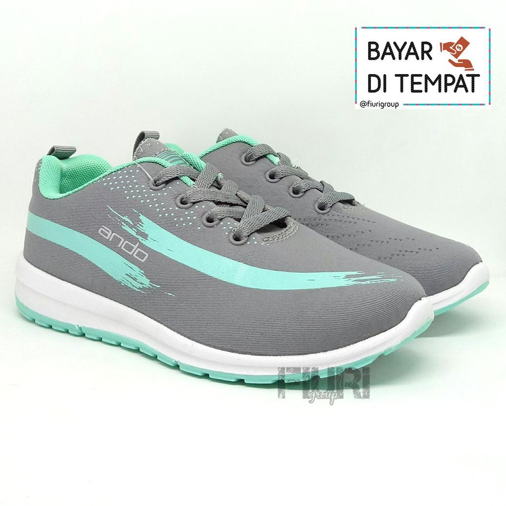 FIURI - ANDO Lindsey Original Grey Tosca Sepatu Olahraga Lari Wanita -  Sepatu Sekolah - Sepatu a347ef8318