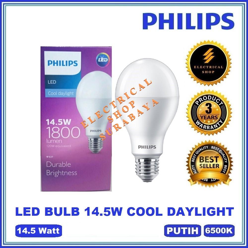 PHILIPS LAMPU LED BULB 14.5W PUTIH (GARANSI 3 TAHUN & HARGA GROSIR) LEDBULB 14,5W 14.5 W WATT ORIGINAL PROMO MURAH