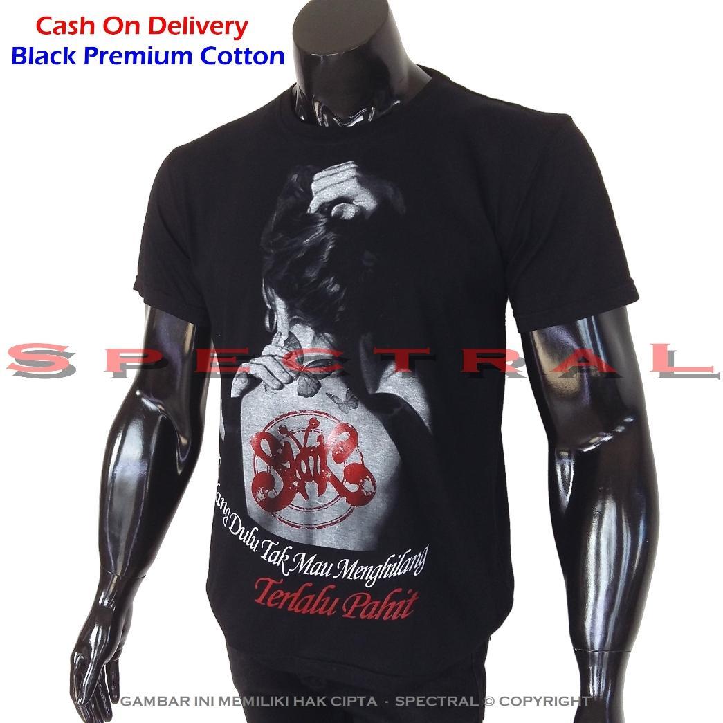 Spectral - Black Premium Cotton – Kaos Wanita Tattoo Slank Indonesia Slankers Band - Pure Cotton