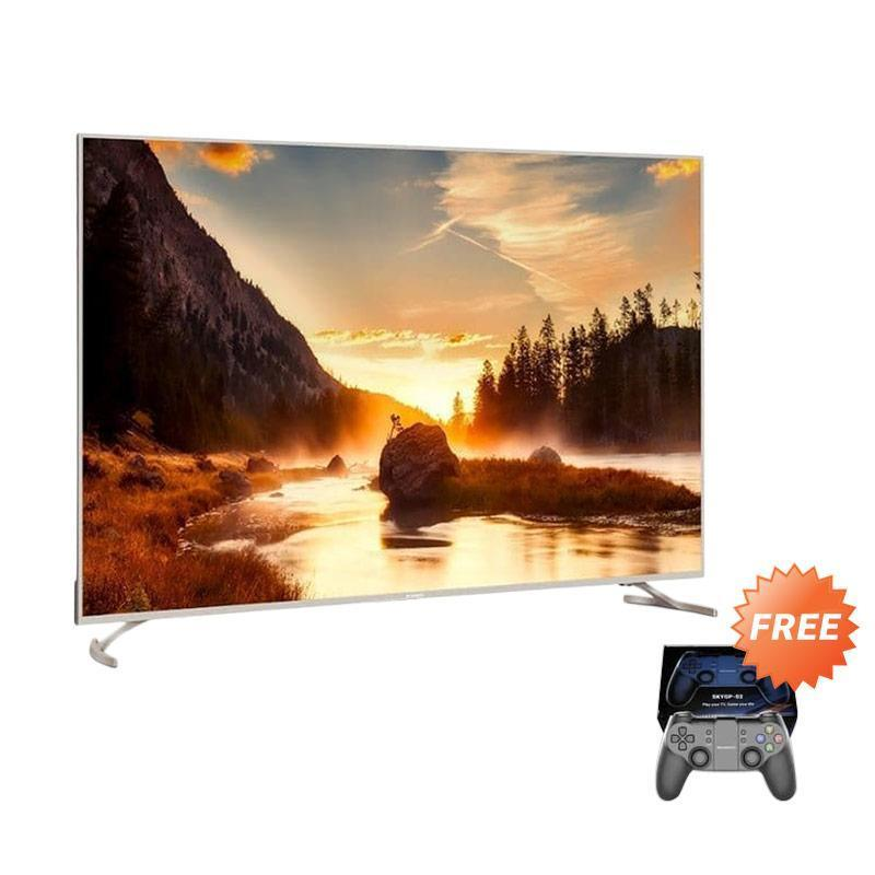 Coocaa 50G2 Android Digital Smart LED TV [50 Inch/ 4K UHD] + Free Gamepad ( KHUSUS JABODETABEK )