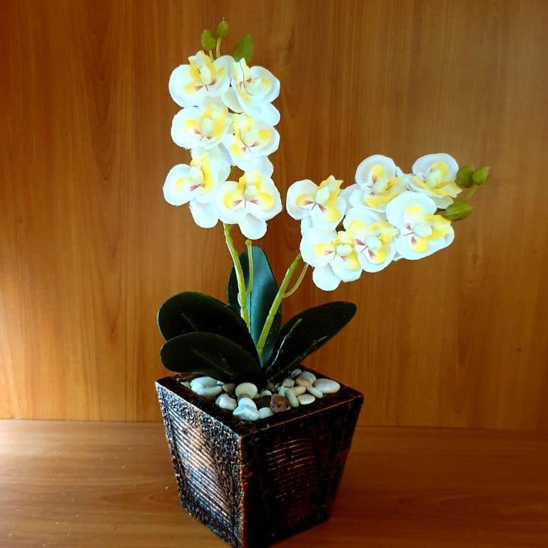 Bunga Pajangan - Bunga Hias Plastik - Bunga Kecil - Tanaman artifisial Pot  Kayu FVL00102118 5f0b971b80