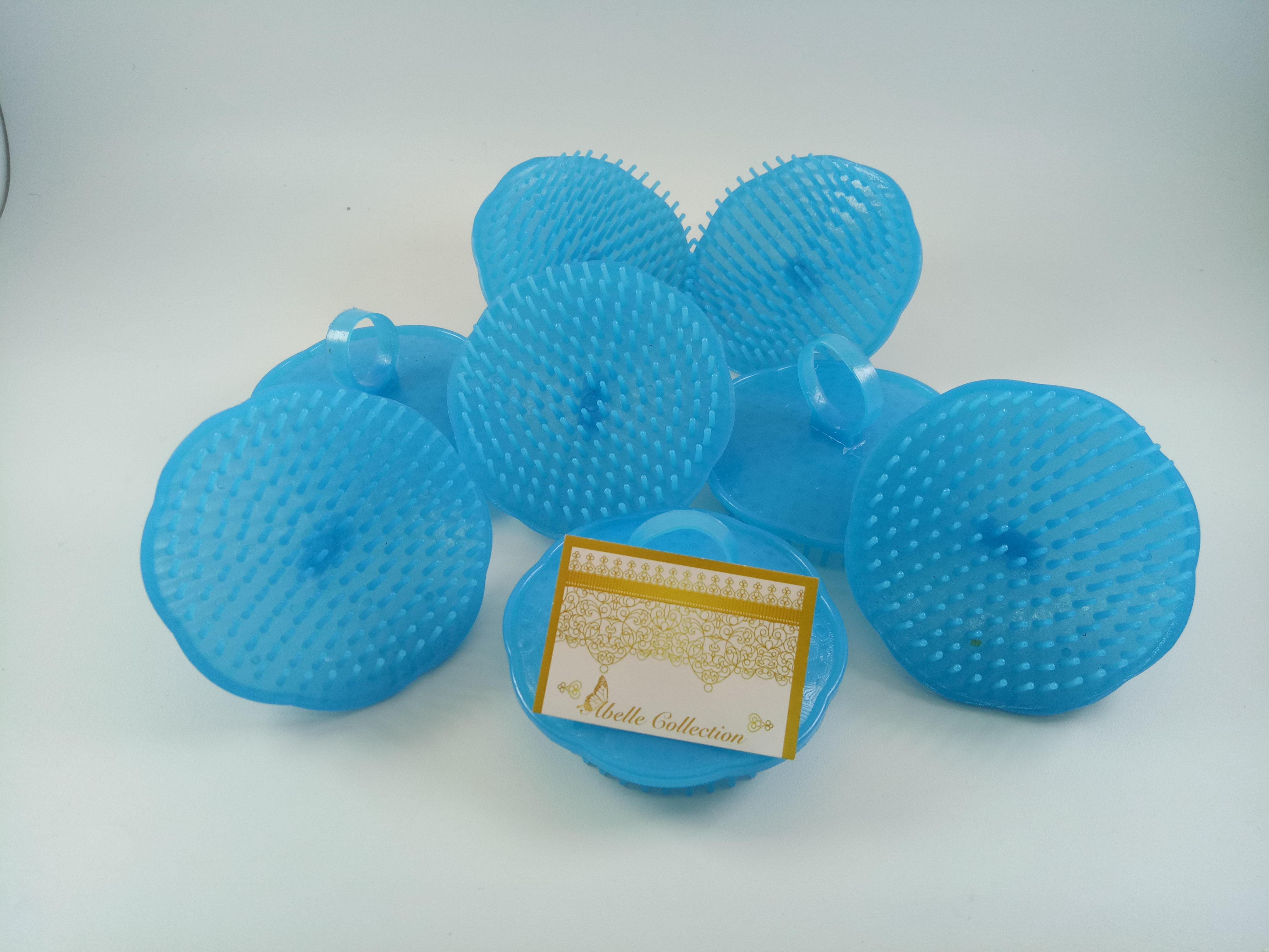 3 ( TIGA ) PCS SISIR KERAMAS   Sisir Bulat Keramas   Sisir Salon    Perawatan Rambut Warna BLUE Biru 23eacc1c05