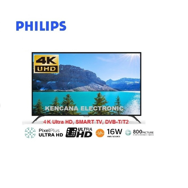 PHILIPS 50PUT6103S -4K ULTRA HD -LED SMART TV DIGITAL TV DVB-T T2 -50 INCH - Khusus JABODETABEK
