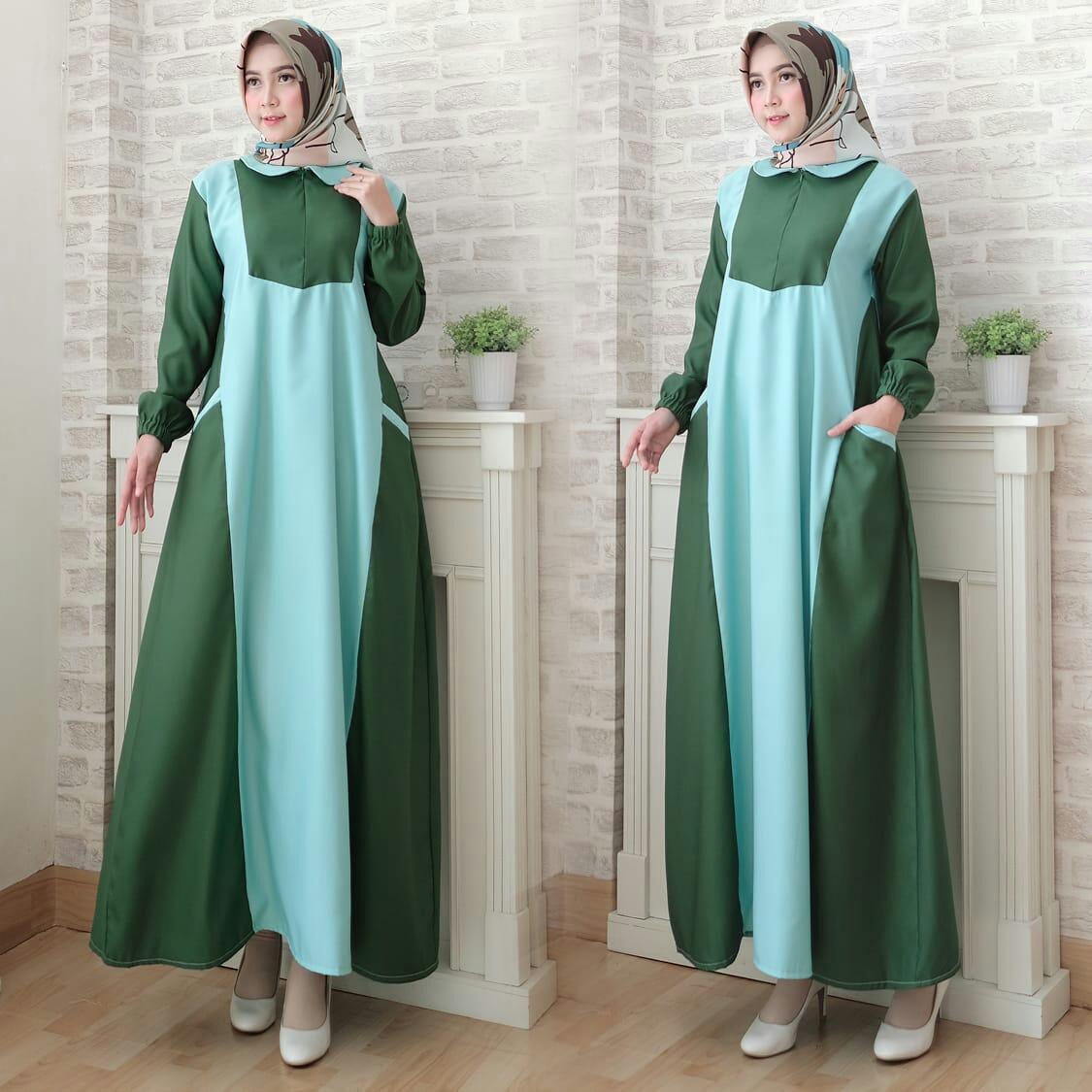 trendshopee Pakaian Muslim Wanita Gamis Maxy Jessy Ukuran Jumbo