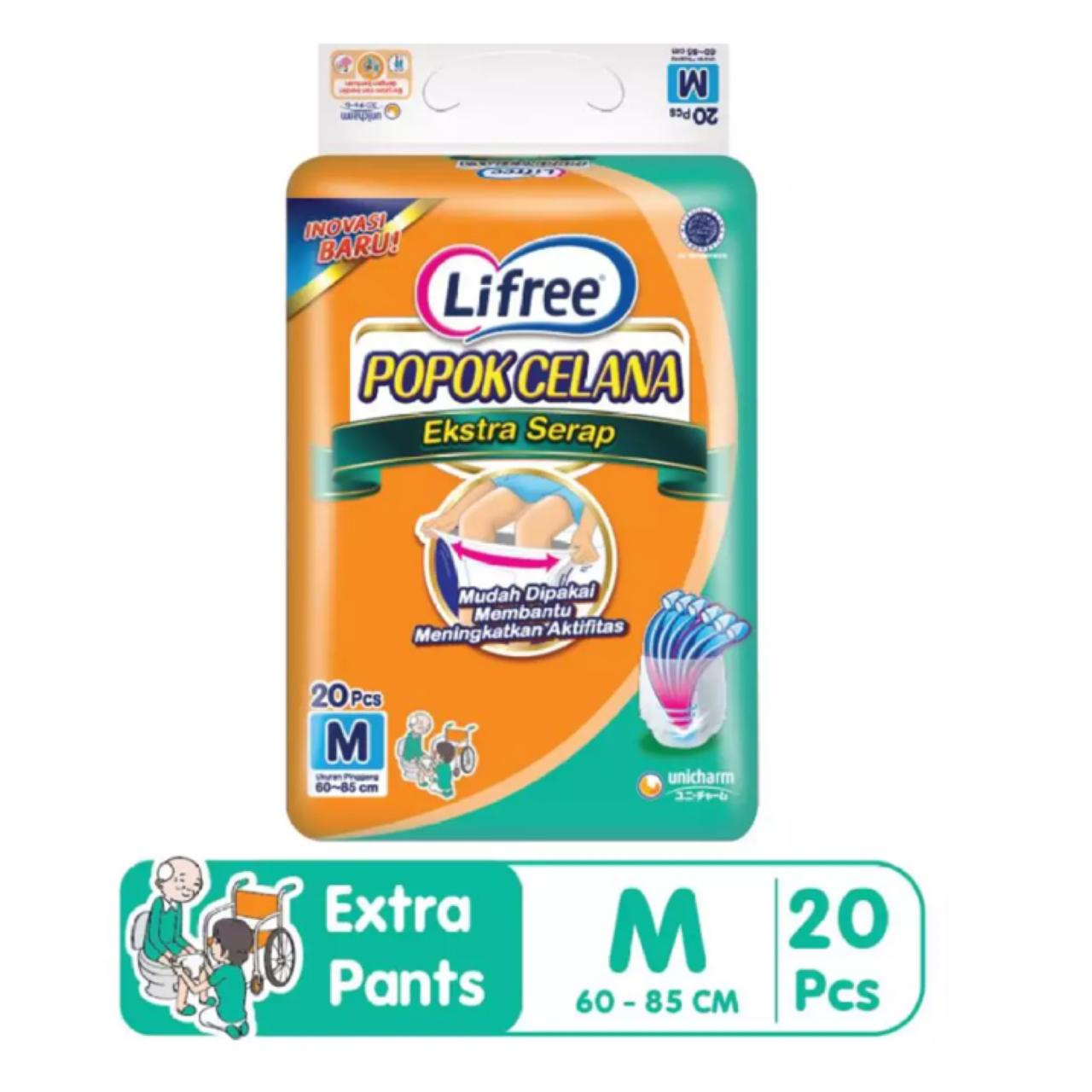 Lifree Extra Ekstra Serap Popok Celana Dewasa Pant Pants Diapers Lansia M20 M 20 By Bloom Official Store.