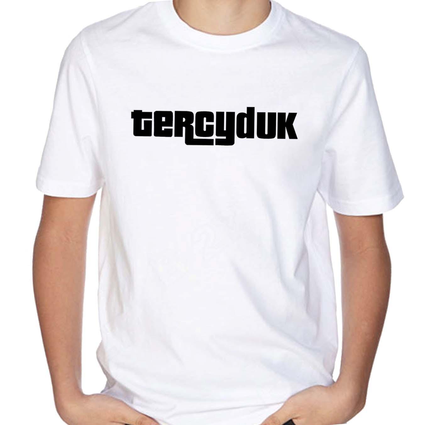 Kaos T-shirt Distro TERCIDUK Pria / Wanita Bahan Catton - White
