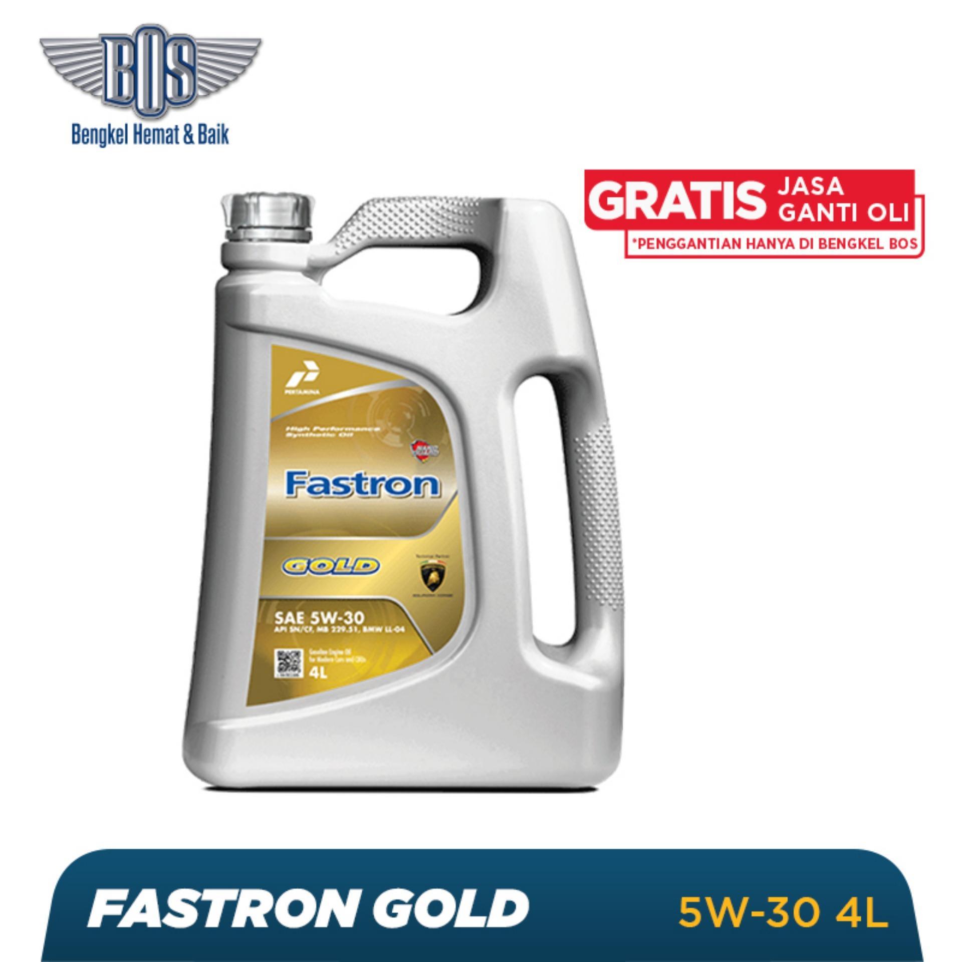 Oli Mobil Fastron Gold  - 5W-30-GALON -  Gratis Jasa Ganti Oli dan Check Up Kendaraan
