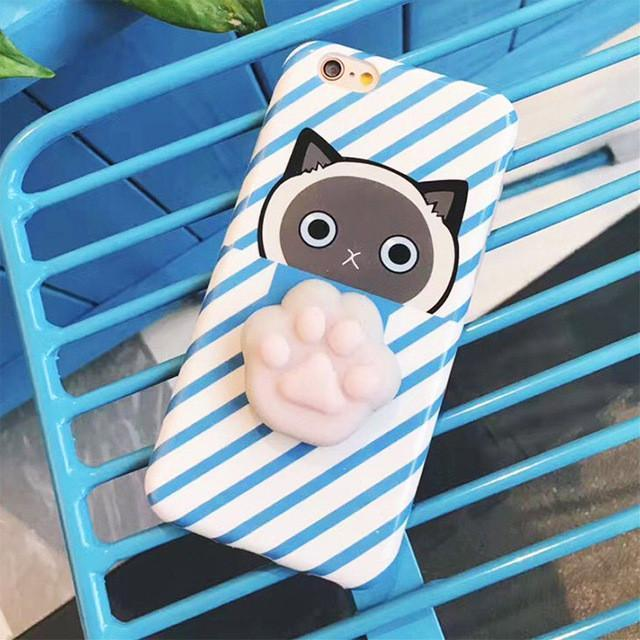 Case Squishy Cat Claw for iPhone 6 or 6s ORI Iphone 6 Plus or 6S Plus Biru SCR8BL - 04
