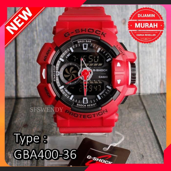 Harga Promo REAL FOTO !!! G Shock GBA-400 G-Mix Full Merah jam tangan pria digital