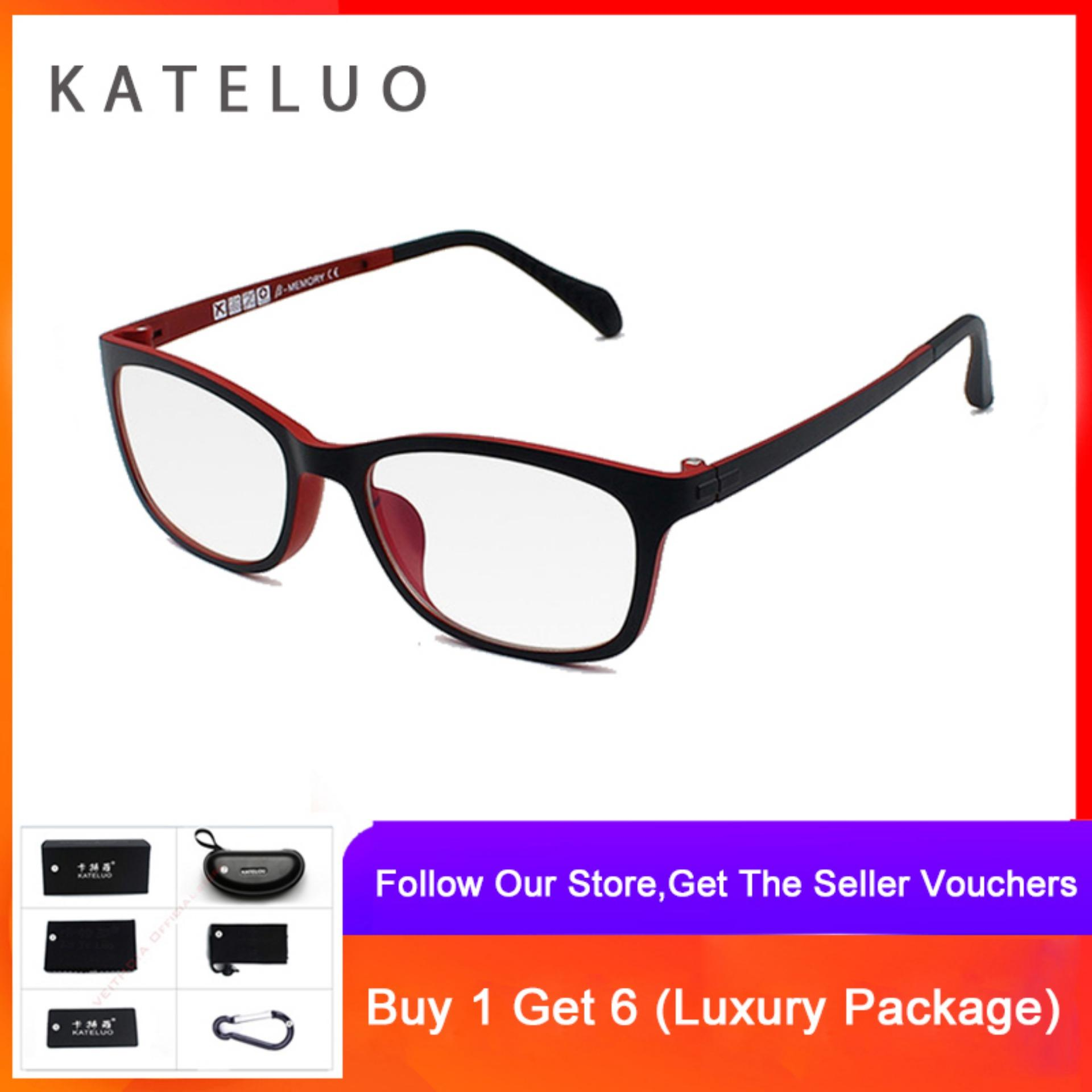 Cod+pengiriman Gratis Kateluo Komputer Kacamata Anti Laser Kelelahan Radiasi-Tahan Kacamata Bingkai Kacamata 13031 By Veithdia Official Store.