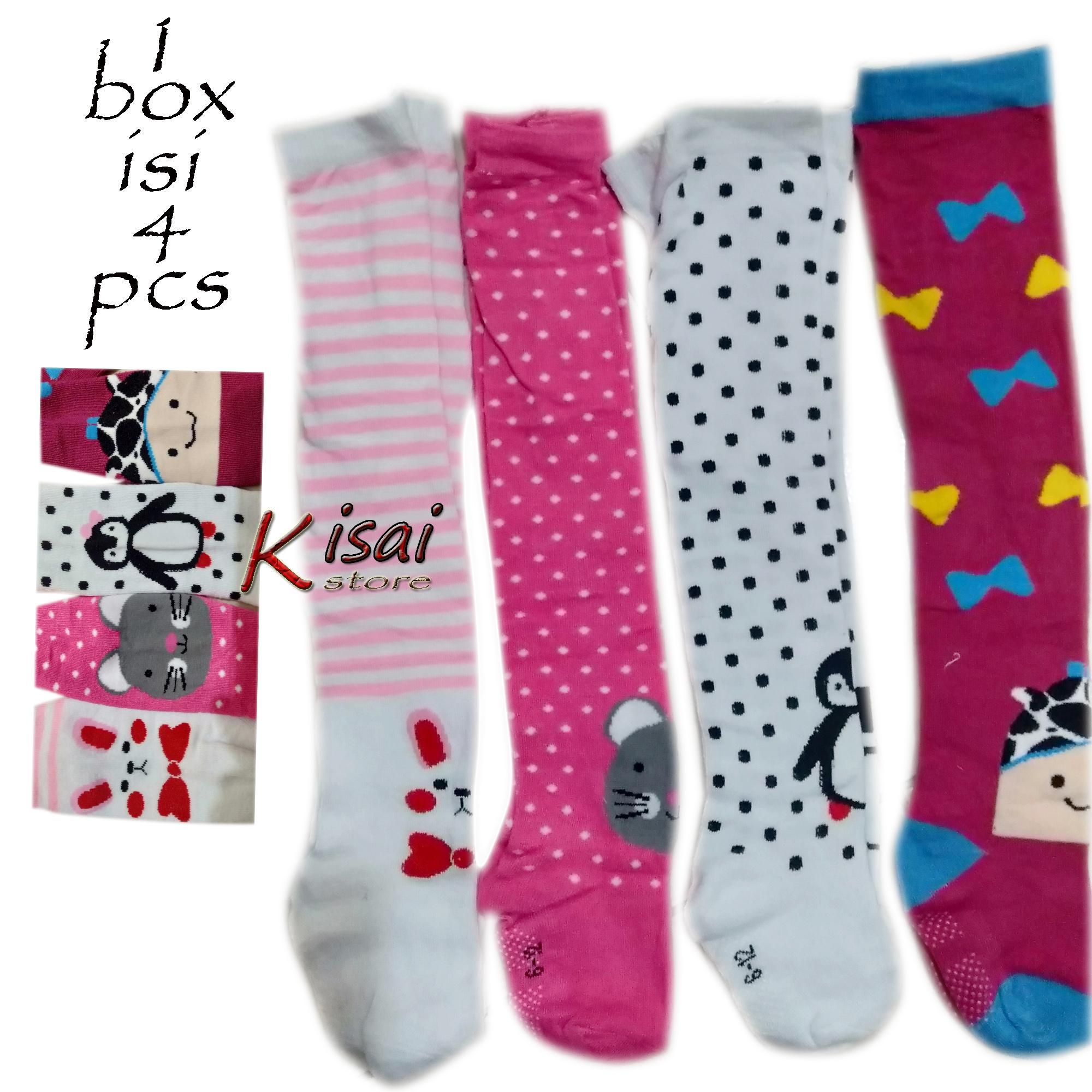 4pcs Legging Bayi Perempuan 6-12 Months - Cotton Rich Tights Comfort Motif - Legging Bayi Perempuan Random Warna Dan Motif - Legging Bayi - Garga Grosir By Kisai Store.