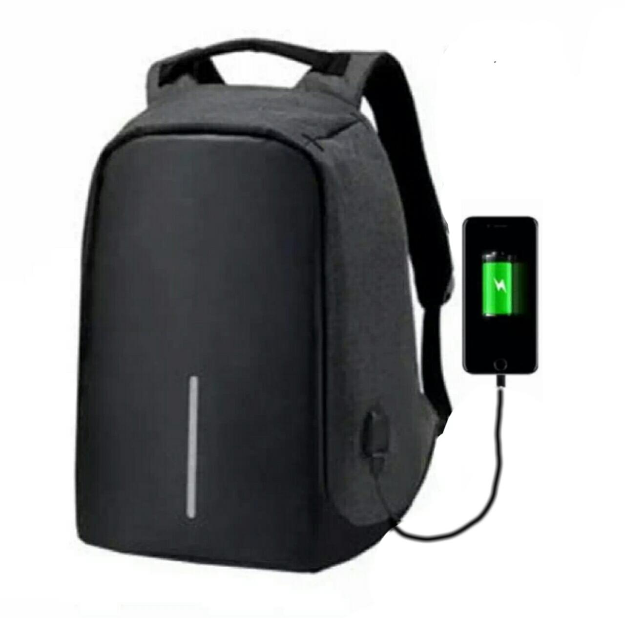 Tas Ransel Tas Pria Tas Wanita Tas kerja Tas kuliah Tas Sekolah Tas Anti Maling USB port charger Tas laptop