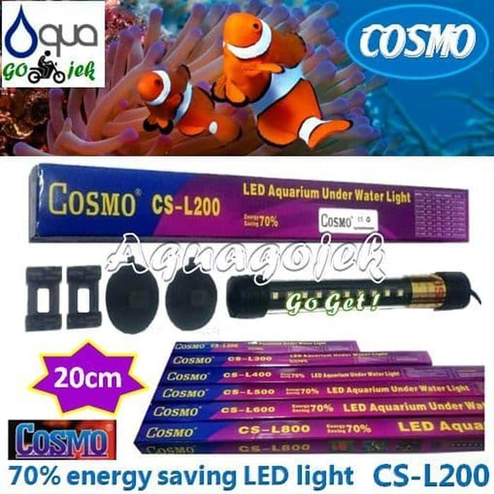 Cosmo CS-L200B Lampu LED 20cm Aquarium Warna Biru
