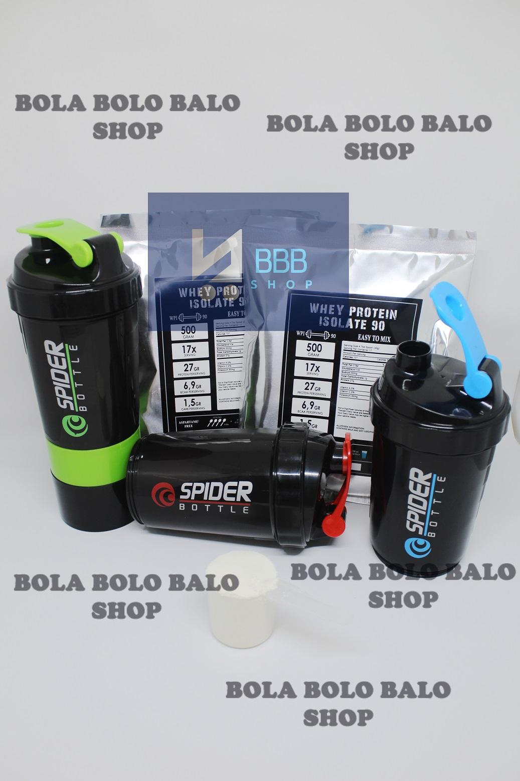 Whey Protein Isolate Wpi 90 Murah Plain / Unflavored / Putih 500gram By Bola Bolo Balo Shop.