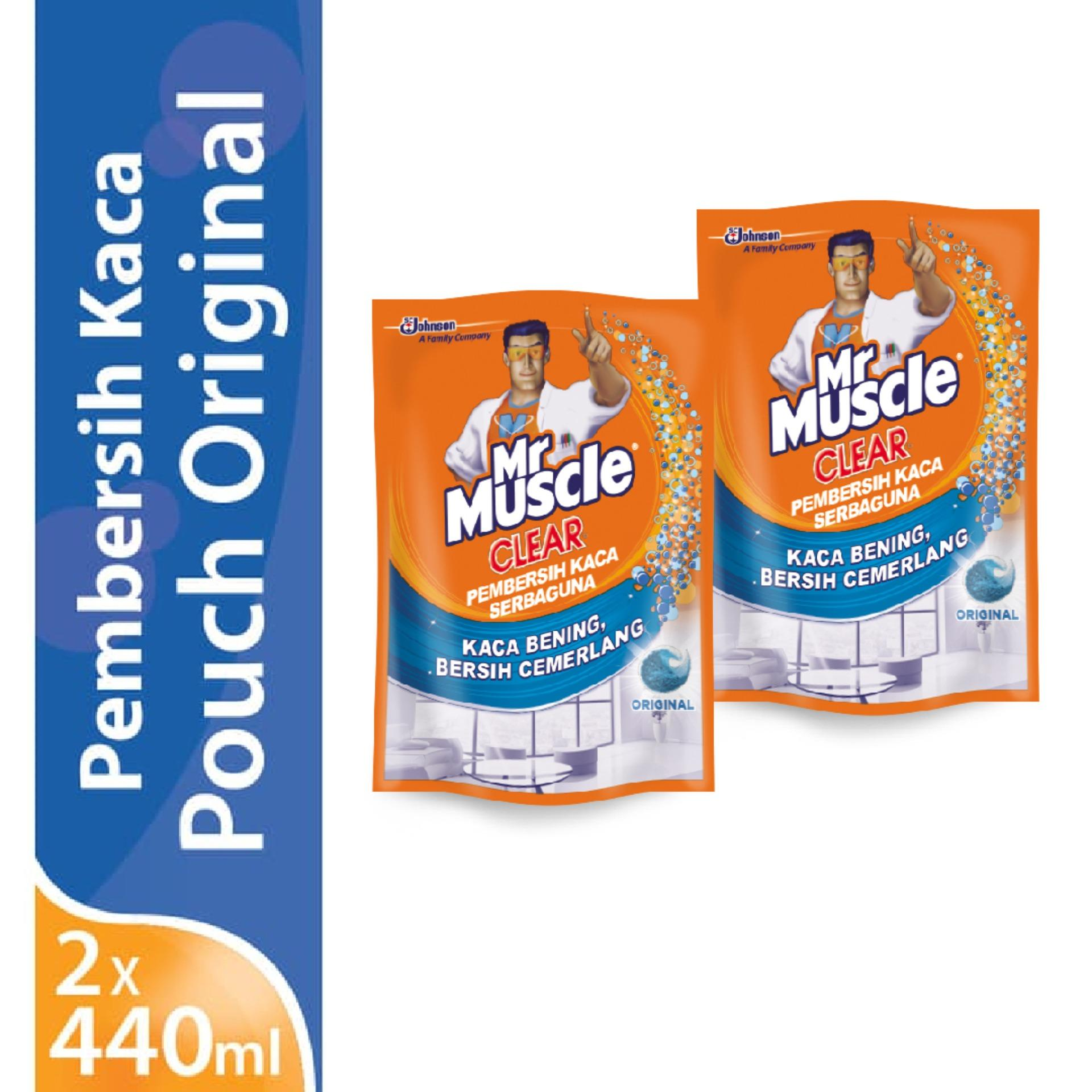[twin Pack] Mr. Muscle Glass Liquid Blue Pouch 440ml X 2pcs By Sc Johnson & Son Id.