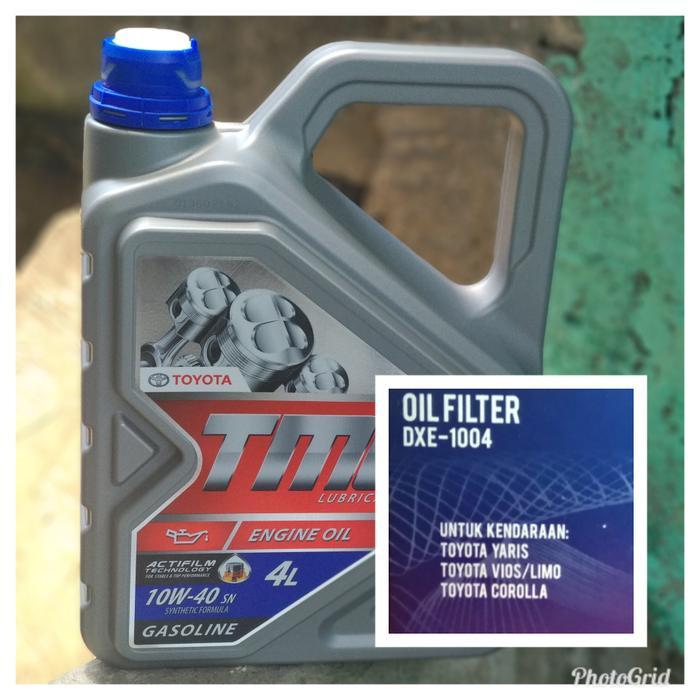 Paket Oli Mobil TMO 10w40 Galon 4liter + Filter oli DXE-1004