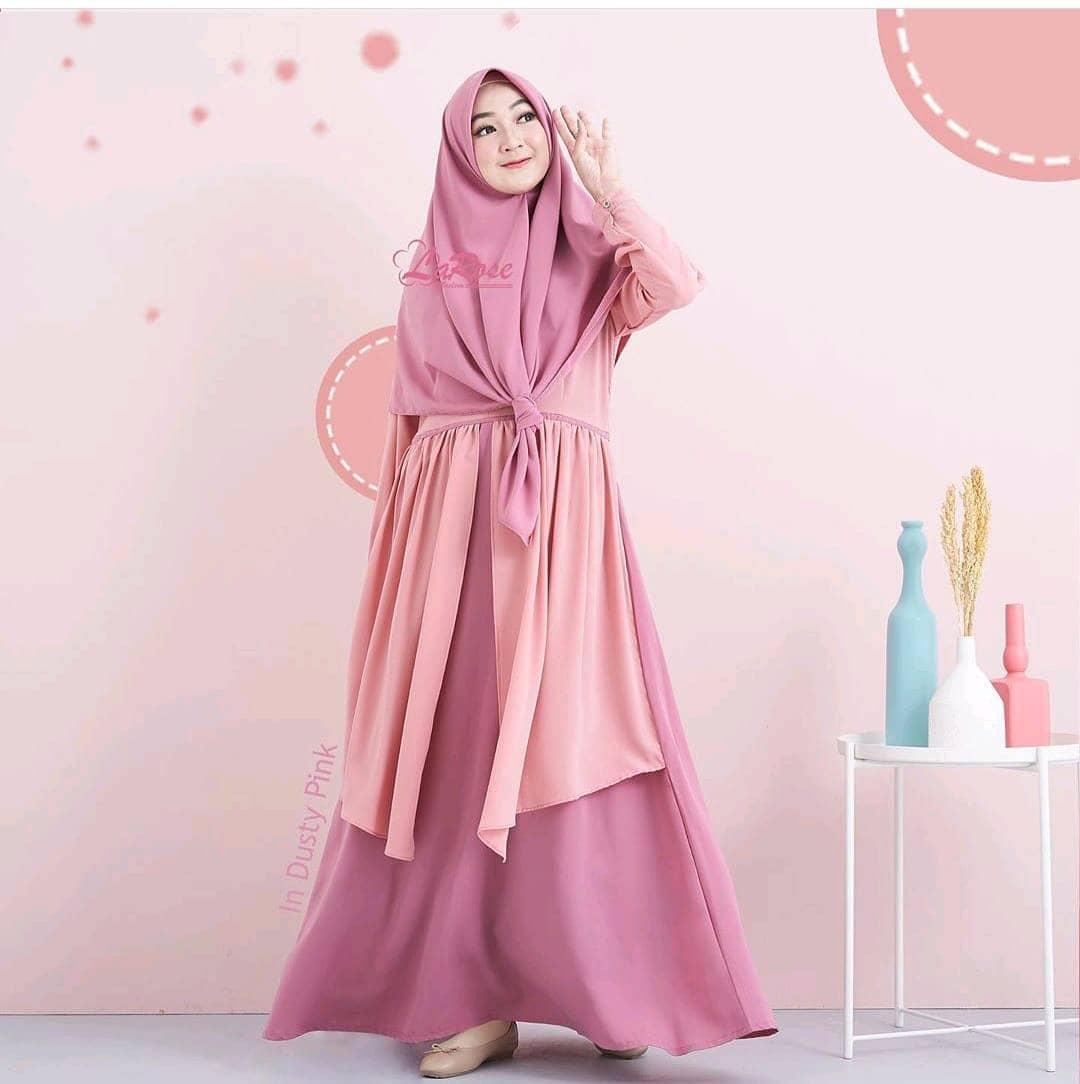 Arshely Syar'i / Gaun Pesta / Gamis Feminim / Gaun Wanita Modern / Baju Kebaya / Gamis Wanita Terbaru / Gamis Syari / Gamis Remaja / Kebaya untuk Wisuda / Long Dress / Dress Wanita Muslim / Pakaian Muslim Wanita / Pakaian Muslim / Baju Muslim Wanita