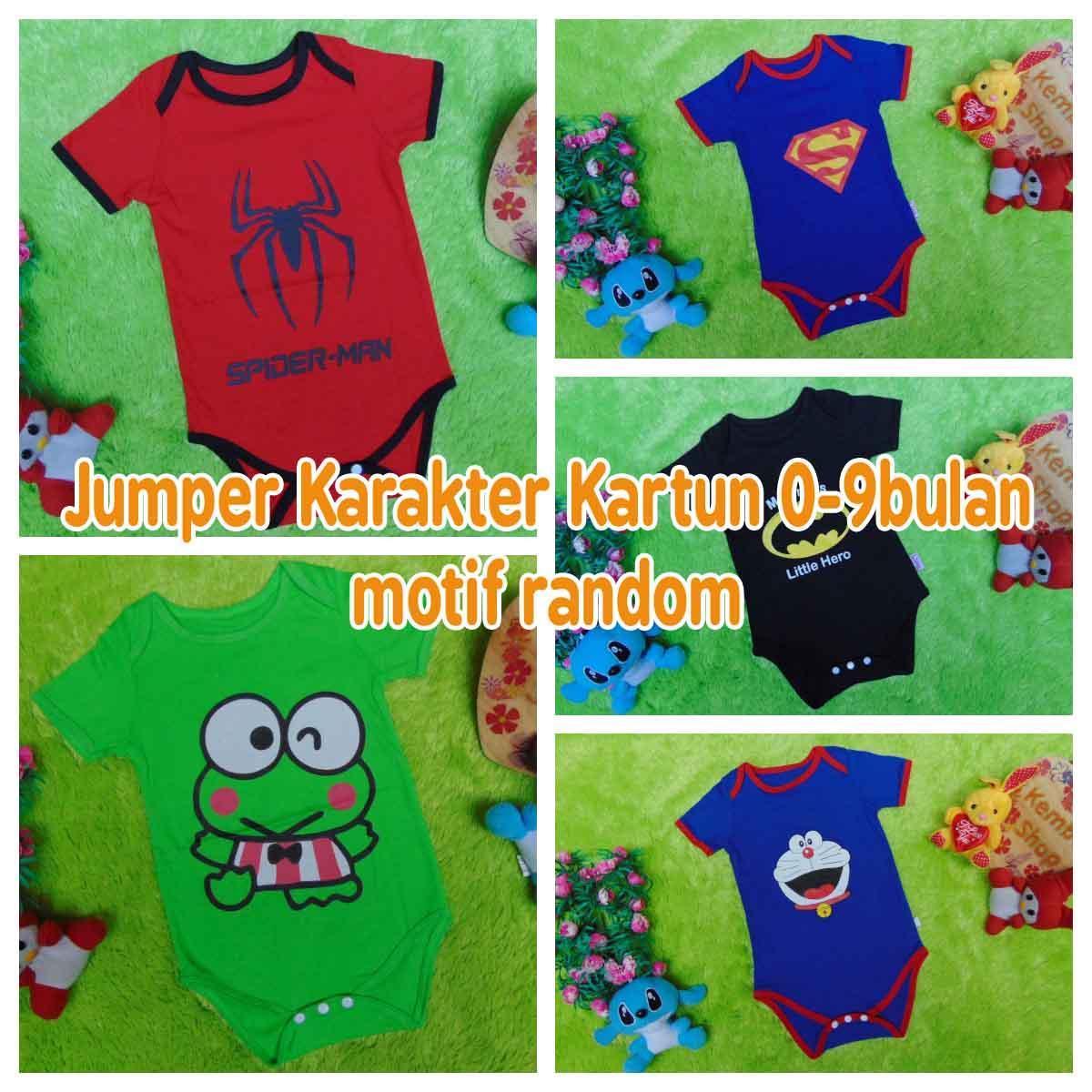 kembarshop- Jumper bayi anak cowok laki-laki newborn 0-9bulan karakter kartun n