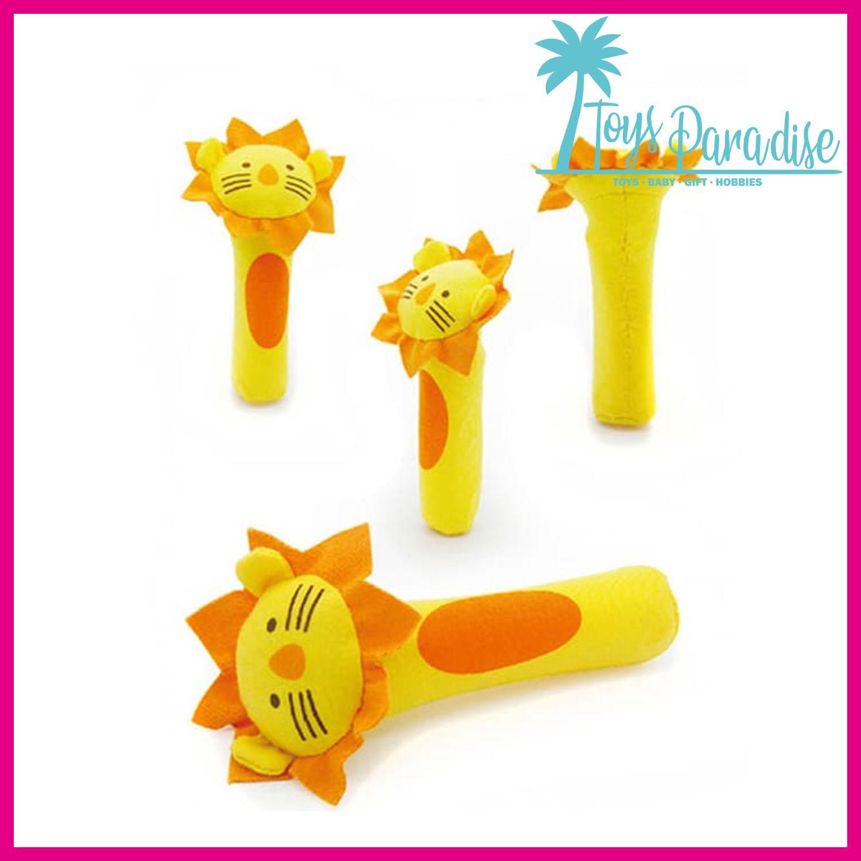 Rattle Stick Tsaujia Mainan Bayi Bunyi Toet Toet Bentuk Boneka Hewan - Singa