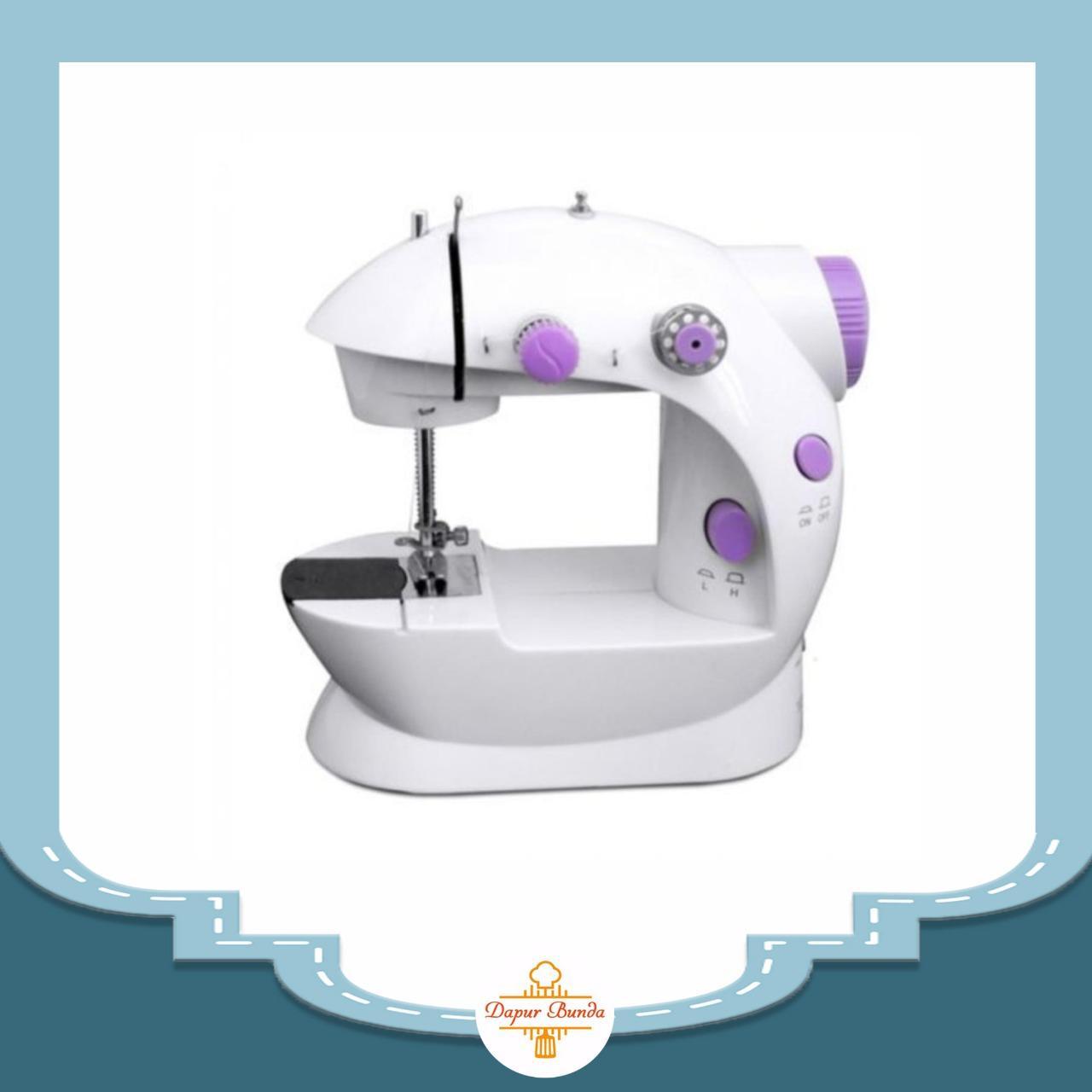 Dapurbunda Mesin Jahit Mini Portable Fhsm 202 ( Ada Lampu) /mesin Jahit Portable Murah By Dapurbunda.