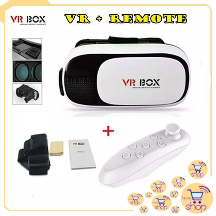 VR Box Virtual Reality 3D Glasses Kacamata 3D GRATIS REMOTE VR Stick  Controller 844b0fa92e