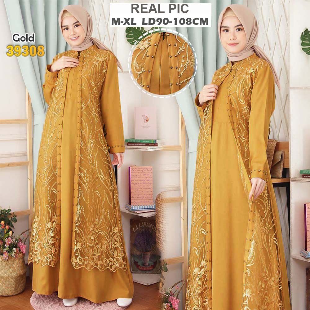MF COD Gaun Baju Gamis Syari Syarie Pesta ORIGINAL REAL PIC kebaya modern busui mewah premium brukat brokat party lace dress bumil bordir glitter payet mutiara wisuda remaja jumbo big xl besar muslimah muslim wanita lebaran terbaru 2020 ihabinayalah