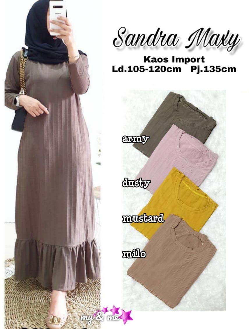 COD Realpict Dress Sandra Maxy Kaos Import