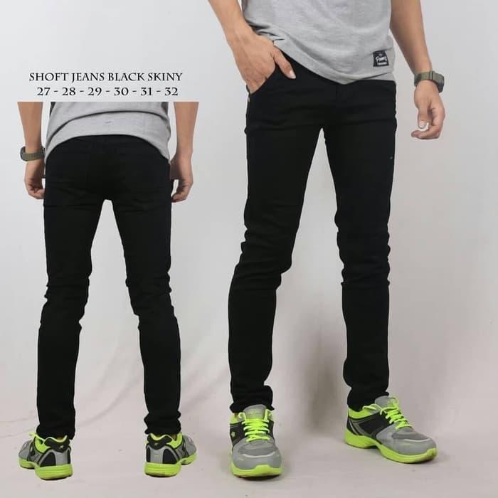celana jeans pria premium hitam murah - celana panjang pria bayar ditempat harga murah slimfit pensil