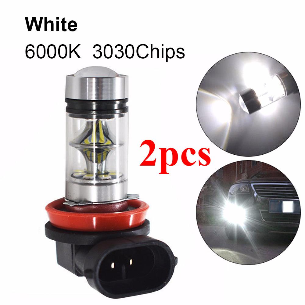 2x Quality 6000K Super White H11 H8 Fog Lights 2323 LED Daytime Running Bulbs