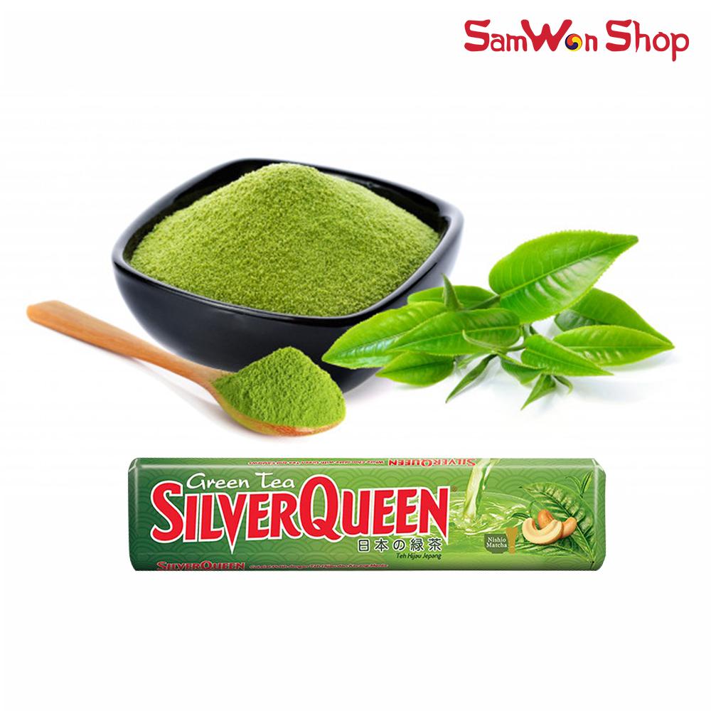 SAMWON - SILVERQUEEN COKELAT GREEN TEA / MATCHA / TEH HIJAU JEPANG 30gr
