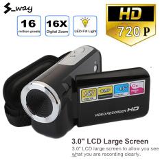 S_way Máy Quay Video, Máy Ảnh Kỹ Thuật Số 16 Triệu Pixel Cầm Tay HD 720P, Đèn Flash LED Zoom Kỹ Thuật Số 4x