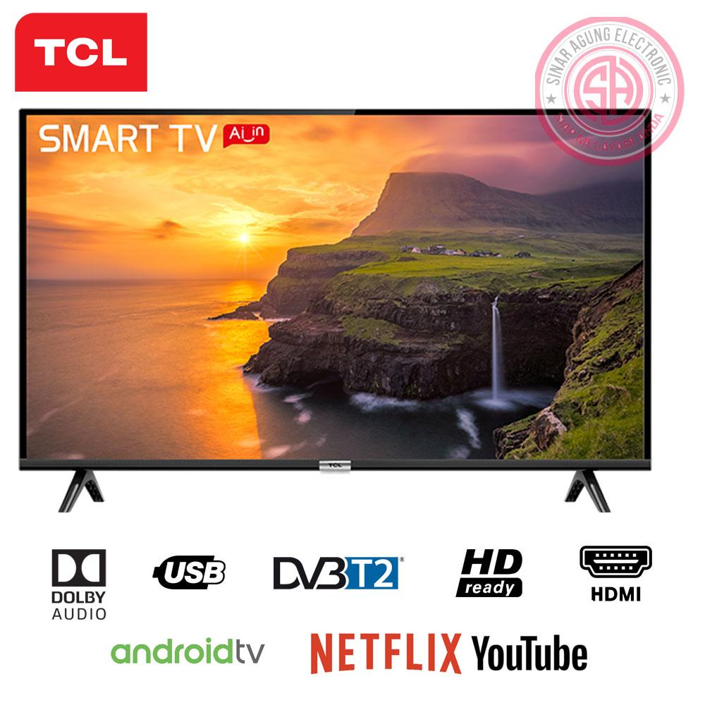TCL LED TV DIGITAL 32S6800 ANDROID TV (2 REMOTE) - FREE Packing Kayu