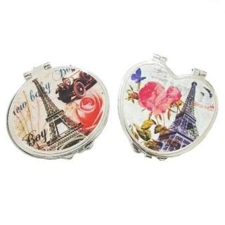 Cermin Make Up Lipat Motif Eropa Paris Vintage 3D DISKON BESAR thumbnail