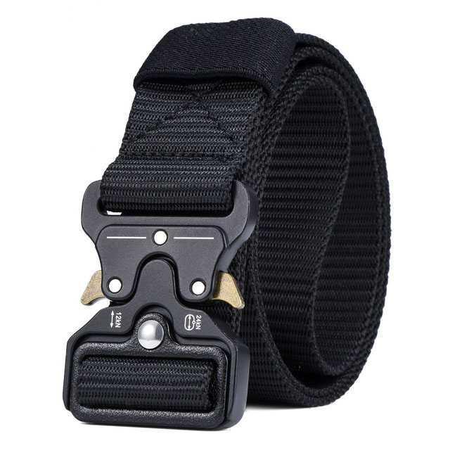Miluota Tali Ikat Pinggang Canvas Military Tactical 125cm Fast Unlocking Buckle Cepat Praktis Nyaman Kanvas Belt