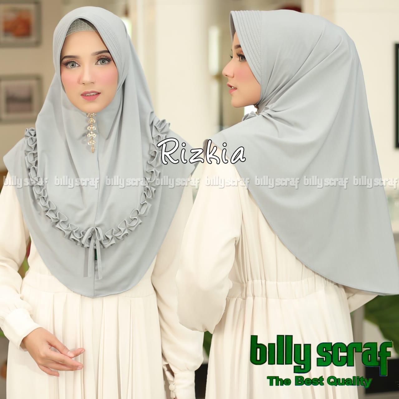 Hijab/Jilbab Instan jersey jersey Model Bergo terbaru termurah dan Terlaris / Kerudung Wanita/ RIZKIA/ jasminehijab