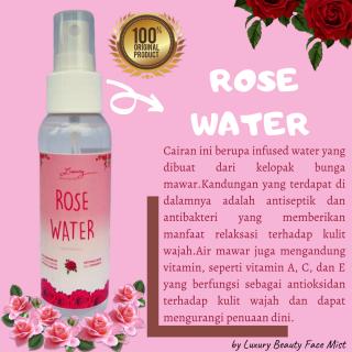 [PROMO] Rose Water Air Mawar Untuk Wajah Setting Spray Face Mist 100% ORGANIK- Bisa COD 100ML thumbnail